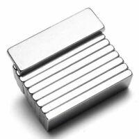 10pcs Puissant N52 Aimant Neodyme Rectangulaire Magnet Bloc Magnetique 25x10x3mm