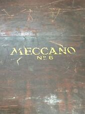 Antique Meccano Erector Set No. 6 Original Wood Case Erectors Toys