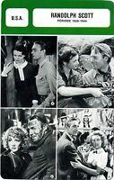 Actor Card. Fiche Cinéma Acteurs.  Randolph Scott (U.S.A.) Période 1928-1944
