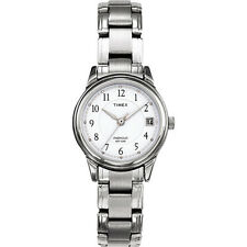 Timex Steel Bracelet Watch Silver Tone Classic Women Dress New Analog