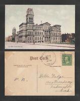 1911 CITY HALL LOUISVILLE KY POSTCARD