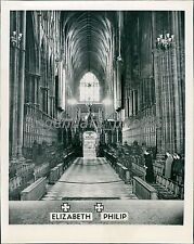 1947 Westminster Abbey Prepares for Royal Wedding News Service Photo