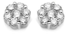 18Carat White Gold Diamond Daisy Cluster Quarter Carat Pair Stud Earrings 0.25ct