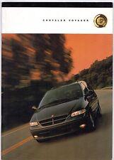 Chrysler Voyager & Grand Voyager 1999-2000 UK Market Sales Brochure SE LE LX