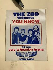 The Zoo Welcomes You Know The Who July 2 Reunion Arena Kzew 98 Fm Sticker