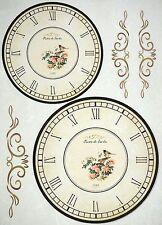 Papel De Arroz-Vintage Reloj De Aves-Para Decoupage Decopatch Scrapbook Craft Hoja