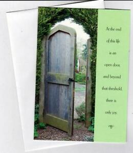Sunrise Cards At the end of this life is an open door. and beyond that threshold