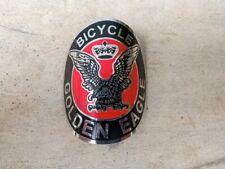 GOLDEN EAGLE Black Red Emblem Head Badge For Vintage Bicycle Free shipping