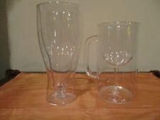 Fred Hopside Down Double-Wall Longneck Beer Glass & Stemware Mug (2pcs)