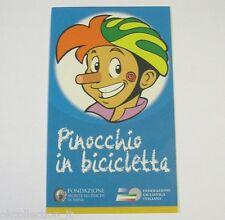 VECCHIO ADESIVO CICLISMO / Old Sticker Bike FEDERAZIONE FCI PINOCCHIO (cm 7x12)