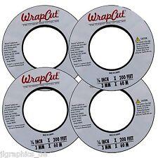 4 Rollen WrapCut - a knifeless system cutting tape! je 60 m Rolle! NEU