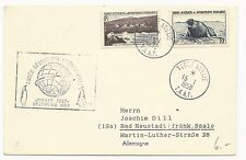 FRENCH ANTARCTIC TERRITORY Scott #5 & #6 on Cover 1958