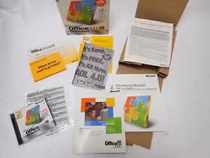 MICROSOFT OFFICE 2000 PROFESSIONAL COMPLETE SOFTWARE PACKAGE
