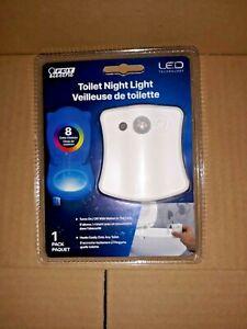 Feit Electric 8 Color Toilet Bowl Night Light Motion Sensor LED Bathroom Light