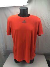 Mens Adidas Climalite Running Shirt Size Large Neon Orange