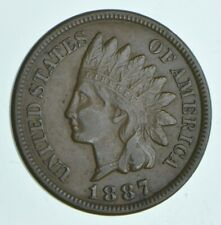 1887 Indian Head Cent - Charles Coin Collection *411