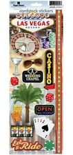 PAPER HOUSE LAS VEGAS NEVADA #2 TRAVEL VACATION CARDSTOCK SCRAPBOOK STICKERS