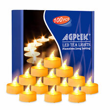 100x Flameless Candles Battery Operated Tea Light Flickering Wedding Decoration