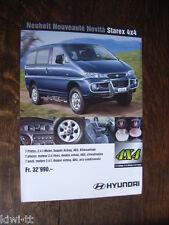 Hyundai Starex 4x4 Prospekt / Brochure / Depliant, CH (D/F/I)