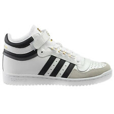 Adidas Concord II Mid Mens BB8778 White Black Gold Patent Leather Shoes Size 13