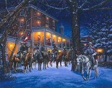 """Mosby's Rangers in Warrenton"" John Paul Strain Civil War Paper Giclee"