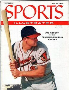 Sports Illustrated 7-30-56 Joe Adcock - Milwaukee Braves Cover, Excellent Cond