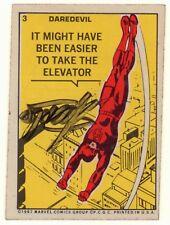 Marvel Super Heroes Sticker Set Card #3: Daredevil - 1967 Signed by Stan Lee