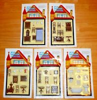Mini Dollhouse 5 Sets of Furniture 1/4 or 1/48 scale  for One Low Price!  SAVE!