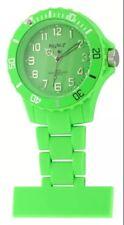 NEON T UNISEX Infermieri Fob Watch NE12 / C CON QUADRANTE VERDE e verde cinturino in plastica