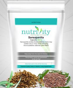 Sarsaparilla 500mg Veggie Capsules Nutrivity Arthritis, Body Fluid Retention