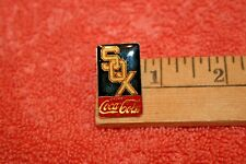 Boston Red Sox & Drink Coke Cola Gold-tone Metal Pin Brooch