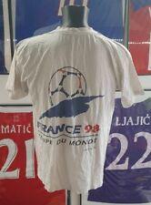 T shirt maillot jersey maglia camiseta shirt trikot france 1998 98 zidane L
