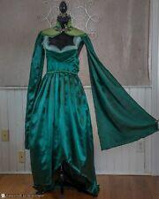 Green Elven Costume, Fairy, Handmade, Renaissance, Fantasy, Crown, Cape, Medium