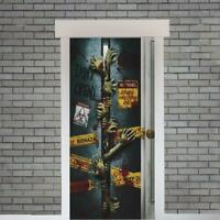 "Spooky Halloween ""Let Me In"" Zombie Door Cover Entrance Banner Party Decoration"