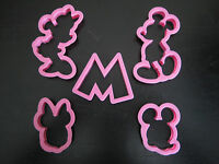 MICKEY AND MINNIE MOUSE COOKIE CUTTER MOLD CUPCAKE BIRTHDAY PARTY FAVOR