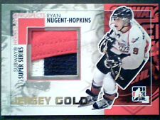 RYAN NUGENT-HOPKINS 10/11 AUTHENTIC PIECE OF A GAME-USED JERSEY /10 ***SP***