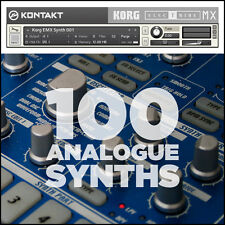 100 Analogue Synth Korg EMX1 Kontakt Instruments VST AU RTAS Plugins Samples