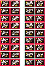 ICING Willy Wonka, Wonka Bar Chocolate Wrapper, Edible Cupcake Topper x 36