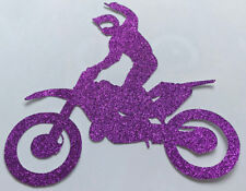 Glitter Card Motor Bike Cake Topper Decoration