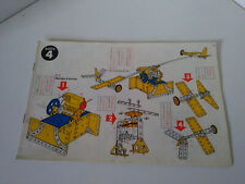Vintage Meccano manuel d'instructions boite construction N°4 parfait etat.