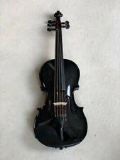 5 String Acoustic Electric Black Carbon Fiber Violin