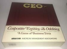 CEO Corporate Entities Oddities Board Game  Trivia Business Finance SEALED Vtg