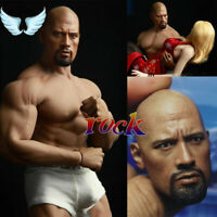 """1/6 Muscular Johnson Male Head Sculpt Fast & Furious For 12"""" Body Action Figure"""