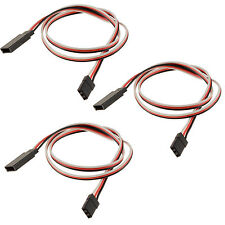 3 x RC 450mm Servo Extension Wire Cable Lead Futaba / JR / Hitec / Sanwa