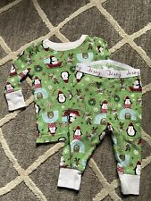 Old Navy 3-6 Months Infant Boys Unisex Christmas Long 2 Piece Pajama Set Guc