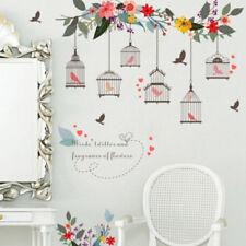 Bird Cage Tree Flower Wall Stickers Mural Wallpaper Decor Home Art Stickers HZ