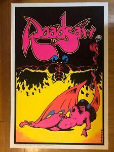 ROADSAW stoner rock VELVET BLACKLIGHT poster (not Kyuss Queens of the Stone Age)