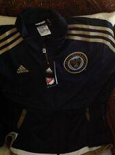 Adidas philadelphia Union  mls soccer  Track jacket NWT  size L womens