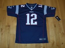 NWT Nike TOM BRADY Blue NEW ENGLAND PATRIOTS Youth NFL Team Replica JERSEY Sz XL
