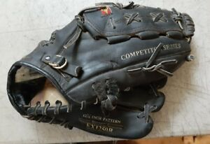 "Easton EX1250B 12 1/4"" Baseball Glove  Leather competitor series BLACK"